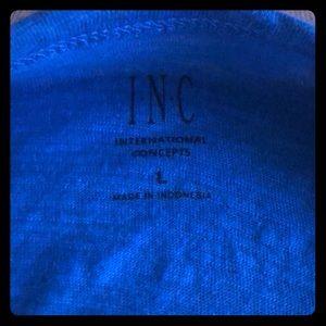 INC Blue Large Slim Fit Shirt